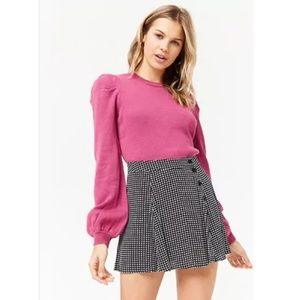 Sweaters - F21   NWOT Puff Sleeve Sweater Pink - M